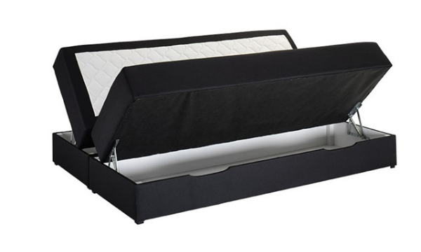 Nordisk Fjer seng med opbevaring 140 cm
