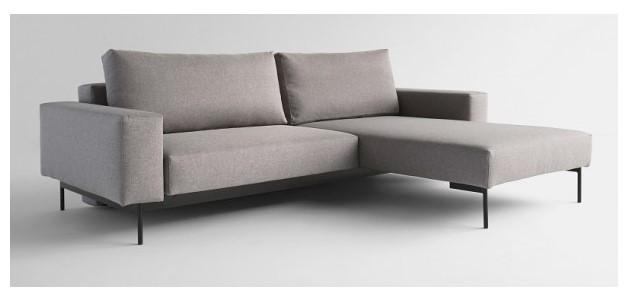 Innovation Living, Bragi Sovesofa m/chaise Lys Grå – Luksusmodel i dansk design