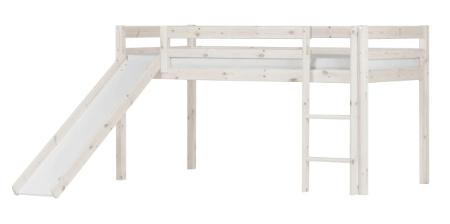 Flexa Basic halvhøj seng med rutsjebane