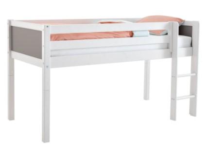 Flexa Basic halvhøj børneseng med skrivebord – flot design og funktionel