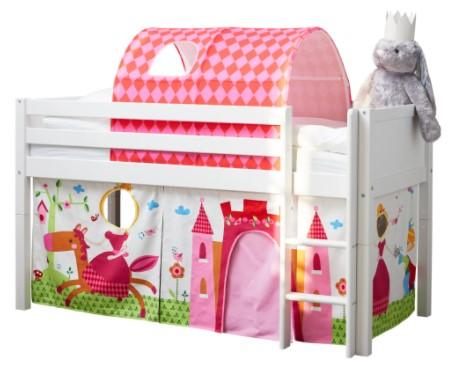 Flexa Basic legeforhæng til halvhøj seng – prinsesse