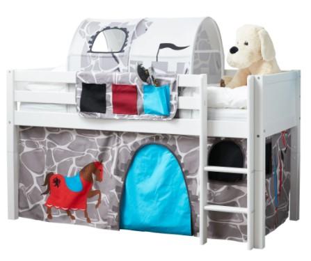 Flexa Basic legeforhæng til halvhøj seng - Ridder Stone Wall