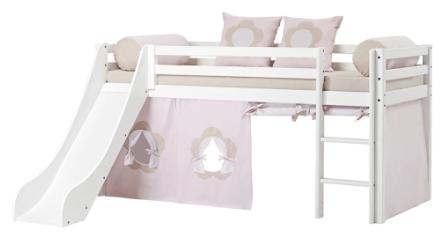 Hoppekids halvhøj seng der både er Svanemærket og kommer med flot rutsjebane