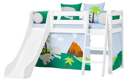 Hoppekids halvhøj seng med dinosaur design